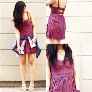 American Eagle Aztec Tribal Print Pocket Dress